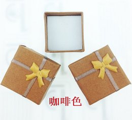 Wholesale Christmas Paper Gift - 4*4*3 Paper Jewelry Box Fashion Rings Packing Box Gifts Jewelry Box Gifts For Women jy