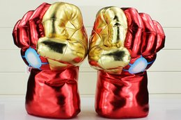 Wholesale Iron Man Games - Iron Man Plush Gloves 30CM*20Cm The Avengers Iron Man 3 Cosplay Adult Glove Stuffed Plush Toys Free Shipping