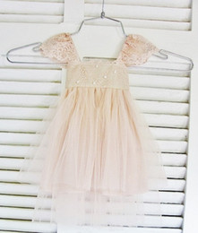 Wholesale Silk Flowers For Wedding Ivory - RUE DEL SOL blush flower girl dress French lace and silk tulle dress for baby girl blush princess dress blush tutu