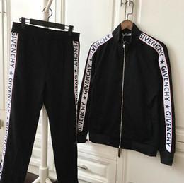 Wholesale High Quality Clothing Brands - 2018 luxury designer brand best quality Autumn for men clothing giv Tracksuits letter star zipper suit baseball cotton jacket sweatshirt