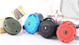 Wholesale pocket speakers - Mini Pocket Portable Bluetooth Speaker Travel Hike Walk Run Sport Outdoor Wireless Heavy Bass Shocking Voice HiFi Music Speaker Box MIS043
