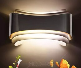 Wholesale Wall Mounted Bedside Lights - modern 5w led wall lights foyer bed dining living room lamp led bathroom lights bedside light indoor wall mounted lamps LLFA