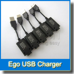 Wholesale Ego Compatible Batteries - Ego 510 USB Charger Cable Cord Adapter 510 EGO Battery Charger Ego Compatible E-Cig Vaporizer Vape Pen USB charger Universal eGo 510 Thread