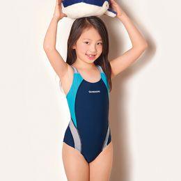 Wholesale Suit For Diving - Wholesale- Kids Swimmer girls bathing Diving suit infantil swimwear for girls bathers children one piece swimwear girl sport swimsuit
