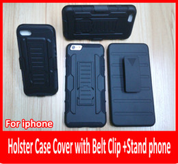 Wholesale Future Iphone - For iphone 6 plus 6 5s 5 Future Armor Impact Hybrid Hard Cases + Belt Clip Holster Kickstand Combo Rugged Shockproof cover.