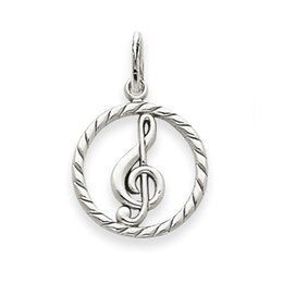 Wholesale Gold Music Pendants - Zinc Alloy Rhodium and Gold Plated Round Macrame Music Note Pendant Charm For Bracelet Making 50 pcs a lot