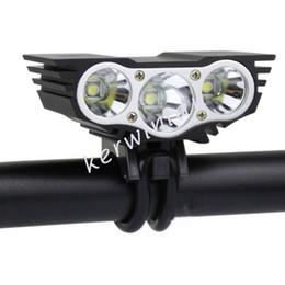 Wholesale U2 Led - SolarStorm Bike light Black Red 3x CREE U2 T6 LED Head Front Bicycle light HeadLight Headlamp outdoor Sport lamp