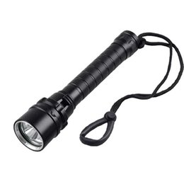 Wholesale Diving Flashing Lights - 3 CREE XM-L2 LED Diving Flashlight 3000 Lumens Waterproof Aviation Aluminum Shell Outdoor Fishing Surfing Flash Light LED Bulbs SL-LF-1243