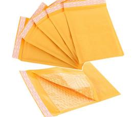 Envelopes de papel kraft on-line-150 * 180mm Kraft Envelopes De Papel De Bolha Envelopes Mailers Acolchoado Envelope De Envio Com Bolha Mailing Bag Negócio Suprimentos G1168