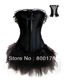 Wholesale Corset Tutu Costume Dress - Wholesale-Free shiping walsonstyles a018 Burlesque Corset & tutu Fancy dress costume Can Can outfit instyles