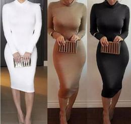 Wholesale Sexy Skinny Dress - Winter Soft Cotton Stretch Black Party Dresses Plus Size Skinny Sexy Club Wear Gorgeous Warm Maxi Bandage Bodycon Dress
