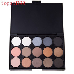 Wholesale Shadow Colors For Green Eyes - 50 Pcs  Lot Natural 15 Colors Long Lasting Eyeshadow Palette Cosmetic Makeup Eye Shadow Palette For Women 3 Style Choose 1509918