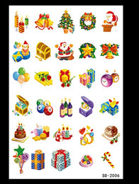 Wholesale Pic Paper - Funny Tattoo stickers Santa Claus XMAS Tree Socks Decoration Pics for Christmas New Year Festivals 10 models DHL free