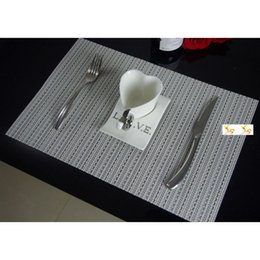 Wholesale Dining Table Pvc Cloth - European Dining Art Decor Placemats Insulation PVC Restaurant Kitchen Table Mats Coaster Pads Promotion Online SD744