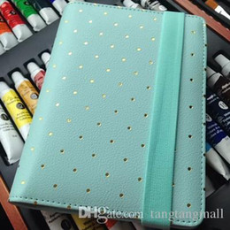Wholesale Diary Book Case - Dokibook Free shipping new notebook Mint white A5 A6 Spiral Time Planner pencil case Creative Zipper leather books Diary Agenda A5