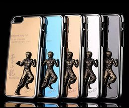 Wholesale Iphone 4s Chrome Cases - Classic 3D Metal Aluminum Chrome Embossed cool Chinese kung fu phone Case Cover For iphone 4S 5S iphone6 6S 6plus Samsung galaxy S5 S6 edge