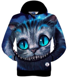 Wholesale Cardigans Cats - Best gift Totoro funny cat High quality brand 3D printed cotton sportswear outdoor coat winter sweatshirts tracksuit for man women hoodies