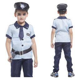 Wholesale Christmas Costumes For Teenage Boys - Kids Policeman cosplay Costume Super X-men Costume children Halloween Carnival Costume For Kids Party Cosplay Boys clothing sets