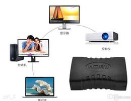 Extensor mini hdmi online-Negro HDMI EXTENDER HEMBRA A HEMBRA ACOPLADOR ADAPTADOR JUNTA Convertidor CONECTOR 1.4 1080 P F / F