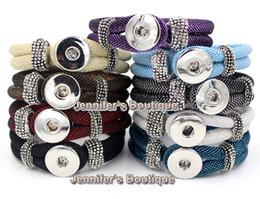Wholesale Chunky Chain Link Bracelets - 9 Colors Wholesale Newest Unix Classic Chunks Metal Button Snap Bracelet Fashion Chunky DIY Interchangeable Jewelry women bracelet
