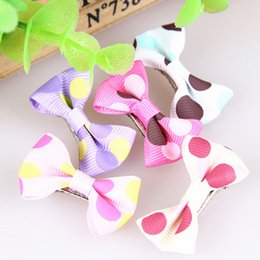 Wholesale Hot Dog Clip - Pet Dog Hair Clips Hair Bow Puppy Hairpin Accessories Decoration hot sale mixed colors nice gift for pet free shipping