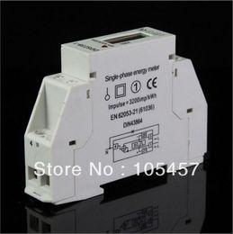 Wholesale Digital Kilowatt Meter - Single Phase LCD 5(32A) 220VAC 60Hz DIN-rail Kilowatt Hour kwh Energy Meter order<$18no track
