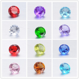 Wholesale Glass Heart Lockets - Crystal Birthstones Floating locket charms Mix color 4mm round glass 500pcs lot