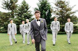 Wholesale Ties For Best Men - Sparkle Groom wool Singal Breas 2 buttons Groom wear tuxedo Wedding Suits For Men Best man's Wedding Suits 3 Peices Set(Jacket+Pants+tie)