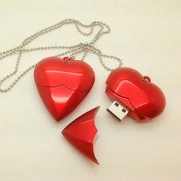 Wholesale Memory Stick Usb Necklace - love Heart shaped usb 2.0 flash memory stick pen thumb drive disk 1GB 2GB 4GB 8GB 16G