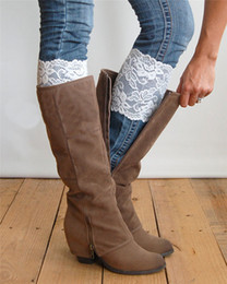 Wholesale Sexy Boots For Girls - 2015 Women's cute Flower Stretch Lace Boot Cuff Toppers Leg Warmers girls ladies Socks wholesale stockings for women leggings sexy gift