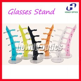 Wholesale Display Rods - Free Shipping Plastic Glasses Rod Eyewear Eyeglasses Holder Sunglasses Display Stand Rack Holder of 5pcs Glasses