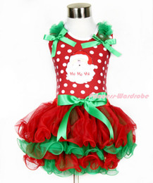 Wholesale Spot Tutu - New Rare Editions Brand 90-130cm Girl White Spots Lace Santa Claus Christmas Bow TUTU Dress Free Shipping 5 pieces lot