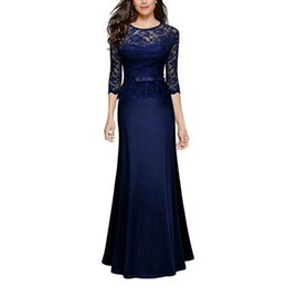 Wholesale Black Maxi Formal Dress - Sexy Lace Maxi Dresses Women Elegant Evening Party Gown Long Dress Floor Length Formal Dress Vestido de festa