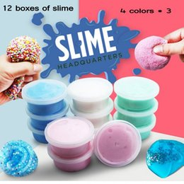 Wholesale Scented Crystals - DIY Fluffy Foam crystal Slime Scented Play Dough Kids Stress Relief Sludge Toy Cotton Mud snow putty christmas gift puzzle toy