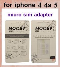 2019 vassoi di carta di sim iphone 4s nano sim noosy nano adattatore per schede supporto slot per sim card slot per iphone 4 4s iphone 5 per la maggior parte dei dispositivi mobili OTH022 vassoi di carta di sim iphone 4s economici