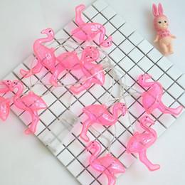 2019 розовые девочки Фламинго лампа строка творческие фотографии взять фото реквизит прекрасный розовый фламинго светодиодные девушка спальня декор 6 35mx C R дешево розовые девочки