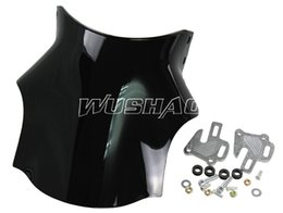Wholesale Double Bubble Windshield - Motorcycle Double Bubble Windshield WindScreen For Suzuki SV650 SV1000 GSX1400 SV 6501000 Bandit GSF650 GSF1200 GSF1250 Black