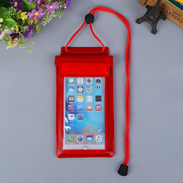 Wholesale Materials For Bags - PVC Material Water proof Phone Bag Universal Waterproof Pouch cell Phone Cases bag for iPhone 8 7 6 6s plus mobile phone less than 6 inch
