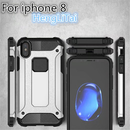 Wholesale Armor Shield - For Apple iPhone X 8 8plus 7 7plus Case Shockproof Armor PC+TPU Cases For Coque iPhone X Rugged Shield Back Covers