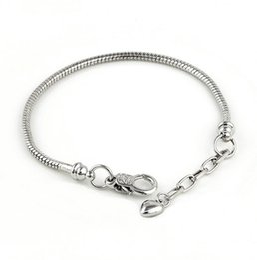 la nueva plata 925 Vogue SP Snake cadena pulseras con Pandora Love Smooth Clips Fit cuentas joyería DIY 19 + 0.3cm desde fabricantes