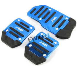 Wholesale Brakes Pads - Brand new and High quality 3pcs Universal Racing Sport Non-Slip Aluminum Manual Car Brake Pedals Pad