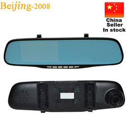 Wholesale Cheap Car Sensors - Hot cheap 2248 navigation rearview mirror Auto car monitor 120 degree view Angle night vision navigator 1080P car DVR germid 010226