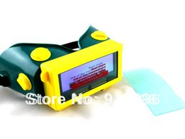 Wholesale Lcd Welding Mask - New Arrival ABS Solar Auto Darkening LCD Welding Helmet helmets Welding Mask Automatic ON OFF + lens protector gift FREE!!!!