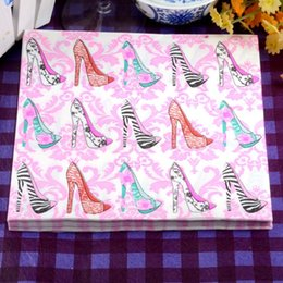 Wholesale Heel Table Party - High Heels Paper Handkerchief Festive Party Placemats Table Decor Napkin Color Tissue Serviettes for Sale SD905