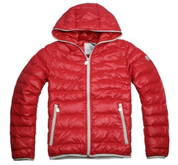 Wholesale Down Coats Jackets - New 2015 Norway Winter Down Jackets Famous Brand Monlers Mens Winter Red Black Parka Hooded Short Duck Down Jacket Man Down Coats