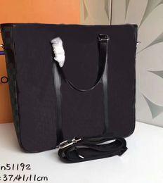 Wholesale Briefcase Hasp - Men's N51192 Genuine leather Men Messenger bag postman handbag damier Graphite Briefcase designer Tadao Crossbody bag CX#186 Shoulder bags