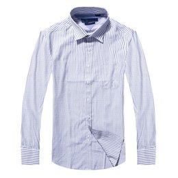 оксфорд рубашки стиль мужчины Скидка 2017 новый стиль 100% хлопок качество твердые рубашки мужчины повседневная большая рубашка рубашки полосатый Оксфорд Платье рубашка Camisa Masculina