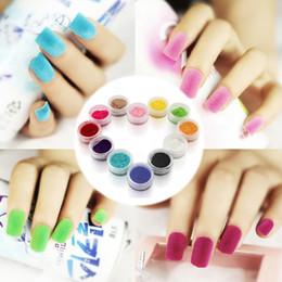 Wholesale New Decorating Colors - Wholesale- New Arrive 12Pcs Decorate Velvet Fiber Nail Polish Professional Nail Art Cosmetics Varnish Nail Enamel 12 Colors -40
