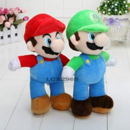 Wholesale Mario Dolls Toys - 2016 Hot Sales Brand 2pcs lot 10'' NEW Arrival SUPER MARIO Bros PLUSH MARIO LUIGI PLUSH DOLLS Toys