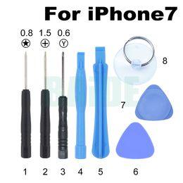 Wholesale Pentalobe Set - 8 in 1 Mini Tool Set For iPhone7 7Plus Opening Tools Kit With 0.6Y 1.5 Phillips 0.8 Pentalobe Black Screwdriver Repair Tool 300set lot